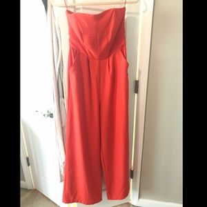 Beautiful NEW orange jumpsuit, size 4. BB Dakota